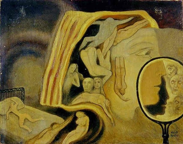 Alberto Martini - Lo specchio di Venere Afrodite